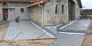 couler une dalle beton exterieur 4 schema pose joint de With comment faire des joints de dalles exterieur