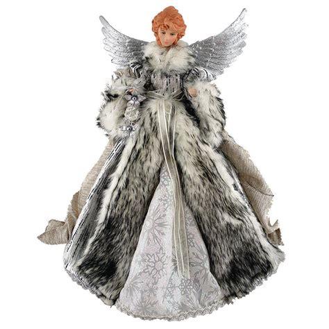 santa s workshop 16 in siberian snow angel tree topper
