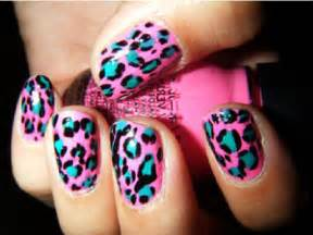 The extraordinary cheetah print colorful nail designs images