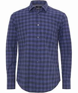 Hugo Boss Bettwäsche : boss hugo boss marine slim fit reid check shirt jules b ~ Watch28wear.com Haus und Dekorationen
