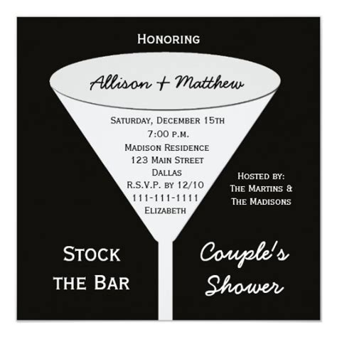 Stock The Bar Shower Stock The Bar Couples Shower Invitation Zazzle