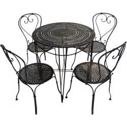 Round Patio Chair by French Bistro Table And Chairs From Blacktulip On Ruby Lane