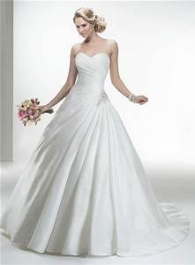 simple ball gown strapless taffeta ruched wedding dress With simple ball gown wedding dresses