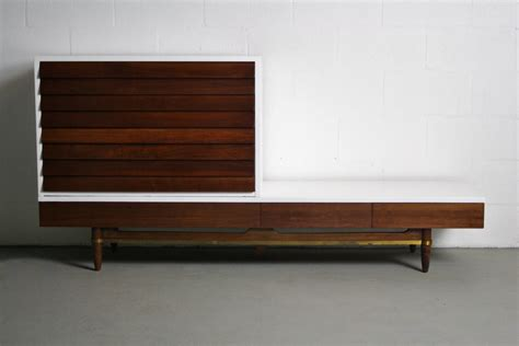 Tv Credenza by Reworked 2 Tone Merton L Gershun Tv Console Credenza