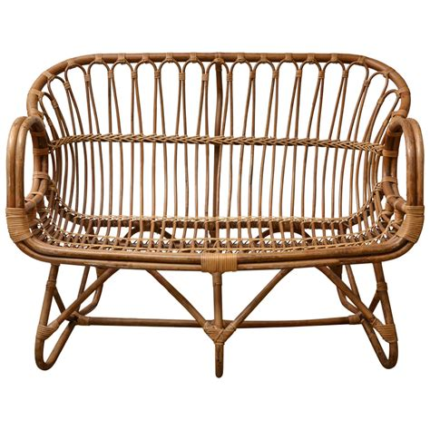 Bamboo Settee by Bamboo Settee At 1stdibs