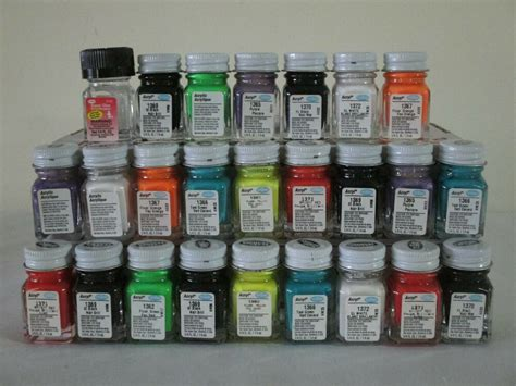 25 piece testors acrylic paint lot new 1 4 oz models