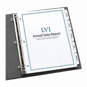 avery 11446 clear label index maker dividers nordiscocom With avery binder dividers 5 tab