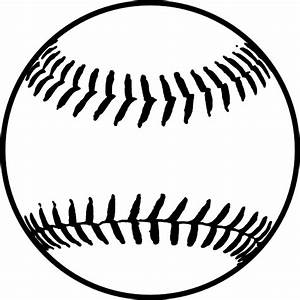 Black softball clip art at clkercom vector clip art online royalty free public domain for Softball vector free download