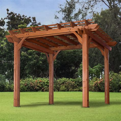 outdoor pergolas and gazebos pergola gazebo canopy 10x10 outdoor garden patio backyard deck lawn furniture ebay