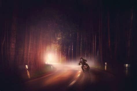 Dark, Motorcycle, Road, Digital Art Wallpapers Hd