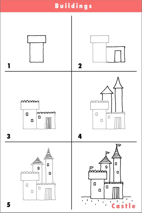 castledrawdrawingpencilsketchquickstep  step