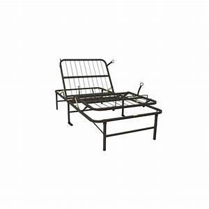 Twin Xl Metal Platform Bed Frame Manual Adjustable Bed