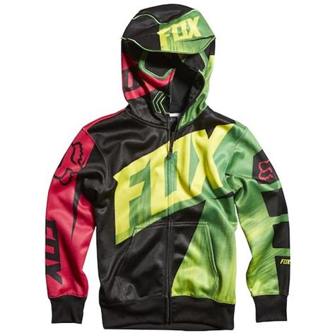 fox motocross sweatshirts fox racing youth vandal zip hoody revzilla