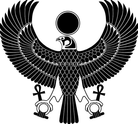egyptian god horus  royal falcon sticker tattoo idea