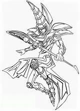 Yu Gi Coloring Oh Magician Dark Yugioh Card Magic Ausmalbilder Monster Kinder Manga Ausmalen Drachen Anime Printable Desenhos Netart Malvorlagen sketch template