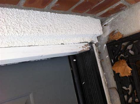 stucco separating  doors   repair