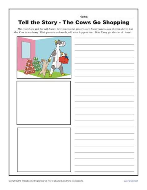 Where To Go To Get Help Writing A Resume by The Cows Go Shopping Kindergarten Writing Prompt Worksheet