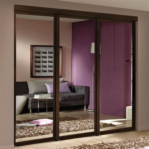 espresso mirror sliding closet interior door