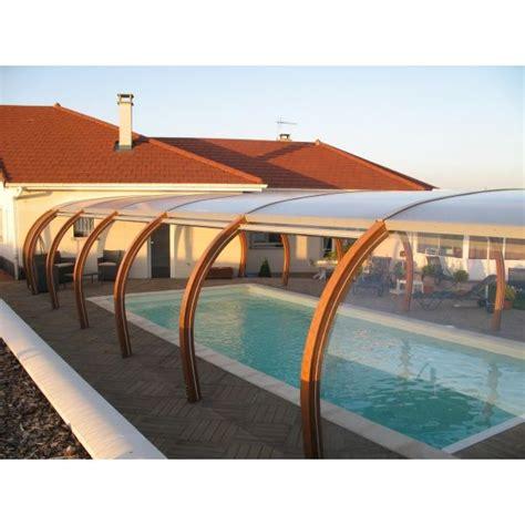 abri de piscine haut en bois accol 233 224 la maison