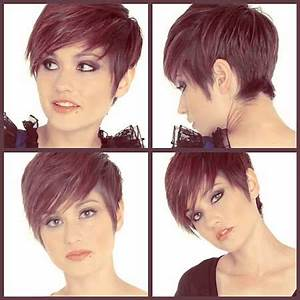 Short pixie cuts front and back