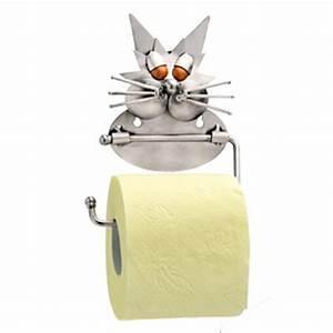 Dérouleur De Papier Toilette : le chat d rouleur papier toilette hinz kunst ~ Teatrodelosmanantiales.com Idées de Décoration
