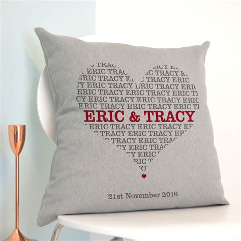 personalised cusion personalised names in cushion by a type of design
