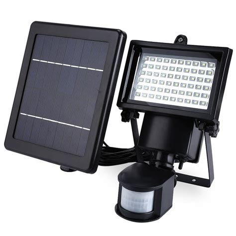 solar sensor wall light led solar l waterproof solar light pir 60 leds pir