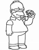 Donut Coloring Pages Print Food sketch template