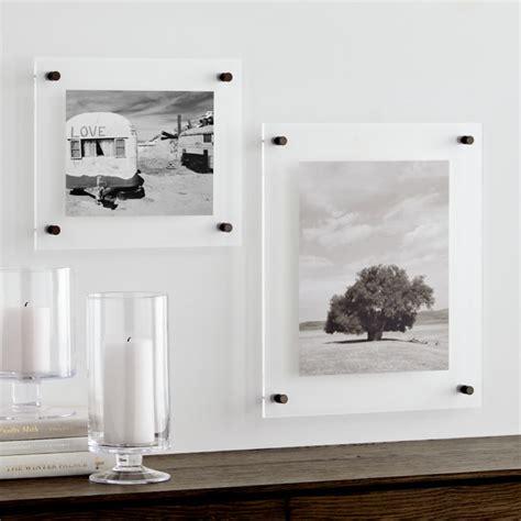 gunmetal floating acrylic wall frame crate  barrel