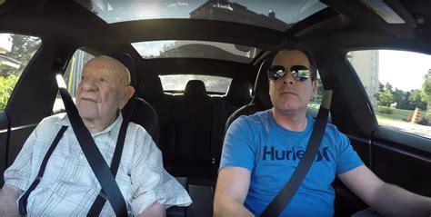 One Tesla Model S Plus One 97yearold Grandfather Video