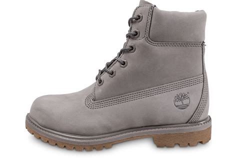 timberland 6 inch premium boots grise chaussures femme chausport