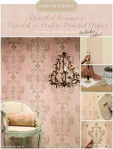 How to Stencil Tutorial: DIY Italian Damask Pattern on ...