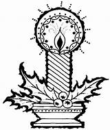 Candle Coloring Awesome sketch template