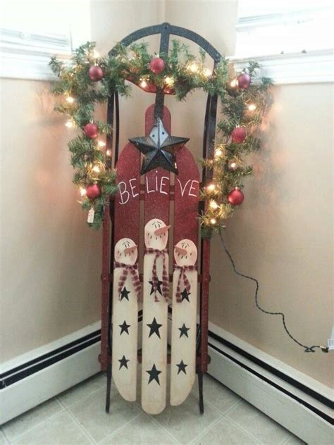 ideas  christmas sled  pinterest holiday