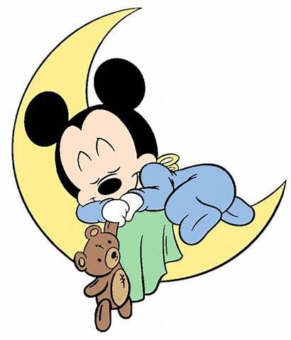 Mickey Moon Minnie Disney Sleeping Clip Babies