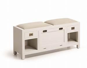 Banc Avec Rangement : banc pied de lit avec rangement chaussures collection abume ~ Melissatoandfro.com Idées de Décoration