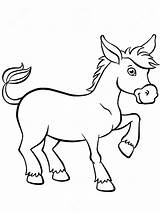 Donkey Coloring Esel Ausmalbilder Animals Printable Malvorlagen Ausdrucken Kostenlos Zum sketch template