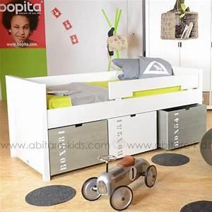 Lit Mi Hauteur Avec Rangement : chambre enfant de la marque bopita chez abitare kids ~ Premium-room.com Idées de Décoration