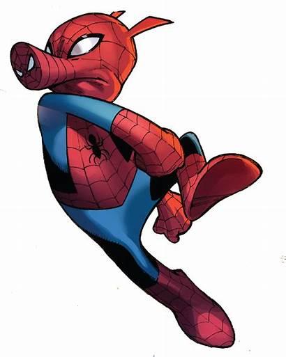 Spider Porker Peter Marvel Ham Verse Spiderman