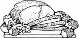 Roast Beef Clip Vector Meat Potatoes Clipart Dinner Pork Cartoon Pig Cliparts Ham Coloring Sketch Svg Drink Pixabay Turkey Clipartpanda sketch template