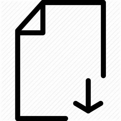 Icon Document Backup Icons Sign Save Line