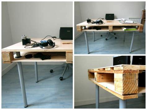 bureau palette bois meubles palettes en bois diy en 99 idées créatives