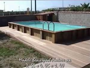 Piscine Enterrée Rectangulaire : piscine bois rectangulaire 8 x 4 terrasse bois exotique youtube ~ Farleysfitness.com Idées de Décoration