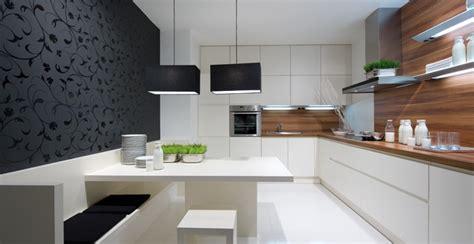 cuisine moderne blanche et bois cuisine bois et blanche photo 9 25 une banquette très