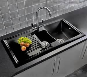 white kitchen sink taps uk best ideas 2017 reginox rl401cb black ceramic 15 bowl kitchen sink