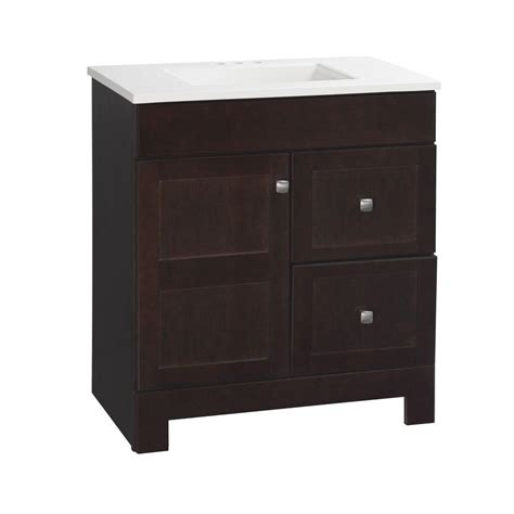 glacier bay bathroom vanity with top glacier bay artisan 30 1 2 in w x 19 in d vanity in java