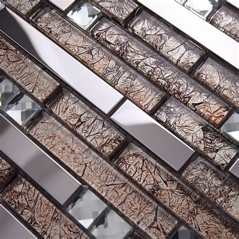 floor mirror tiles stainless steel swimming pool floor tile blend with mosaic glass mirror chip tiles home decoration