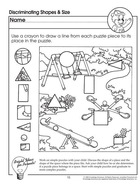 Worksheet For Preschoolers  Jumpstart  Visual Closure  Pinterest  Worksheets For