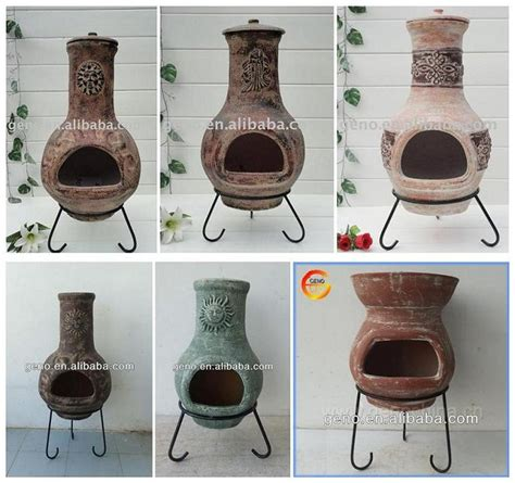 How To Make A Chiminea by Garden Antique Clay Chiminea Clay Bbq Grill For Garden