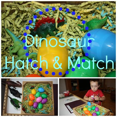 preschool dinosaur activities sensory play ideas 872 | hatch match